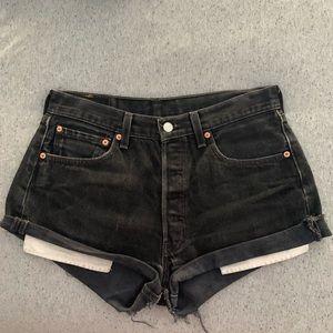 Charcoal Vintage Levi's 501 Highwaisted Jean Short